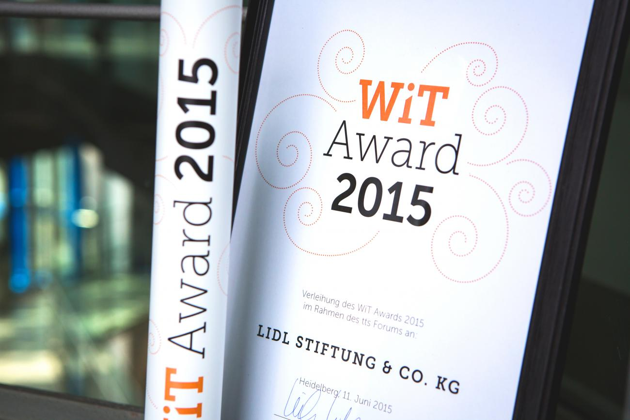 TTS Forum – WiT Award Urkunde
