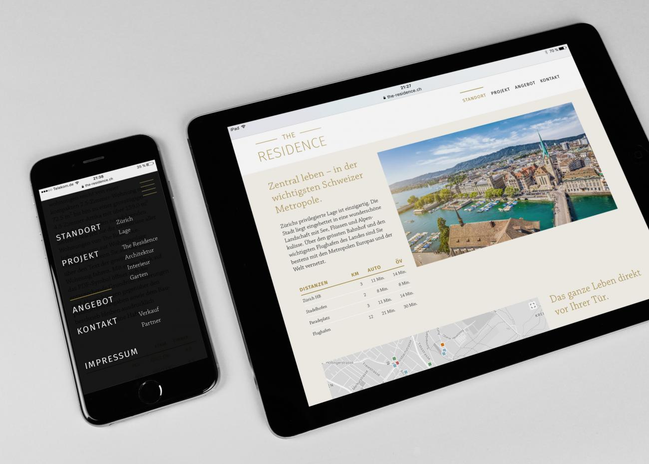 The Residence – Responsive Website